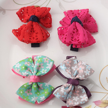 New Baby Hairpins Cute Big Bow Hair Clip Children Hair Accessories Hair Ornaments Fashion Bow Dot Flora Barrettes(China (Mainland))