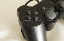 Black Wired 1.8M Shock Remote Controller joystick Gamepad Joypad for Sony PlayStation 2 PS2