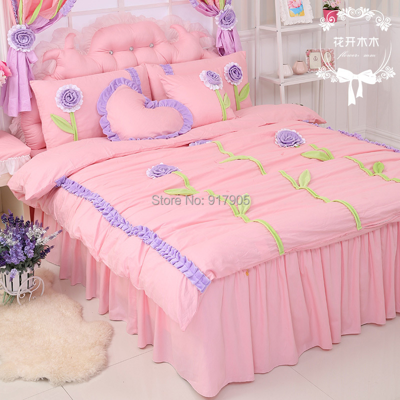 Luxury Korean Girls Princess Comforter Bedding Sets