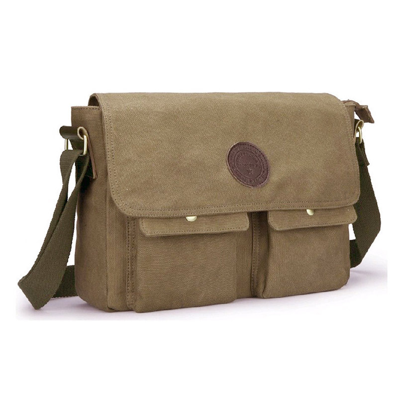 2014 new fashion men classic vintage outdoor hiking military messenger bags students school travel messenger bags