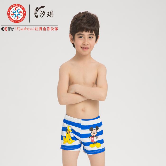 2015 child swimwear MICKEY MOUSE stripe male swim trunks 1530 - the swimmingcat's store