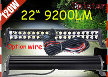 Free DHL/UPS Ship!22inch 120W 9200LM 10~30V,6500K,LED working bar,Epistar;Option wire of harness,tractor,1pcs,HILUX fog light