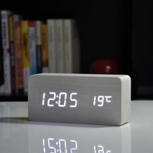 2015 Best High-end clocks,Thermometer Alarm clock LED Digital Voice Table Clock,13 colors Digital Clock Battery/USB power(China (Mainland))