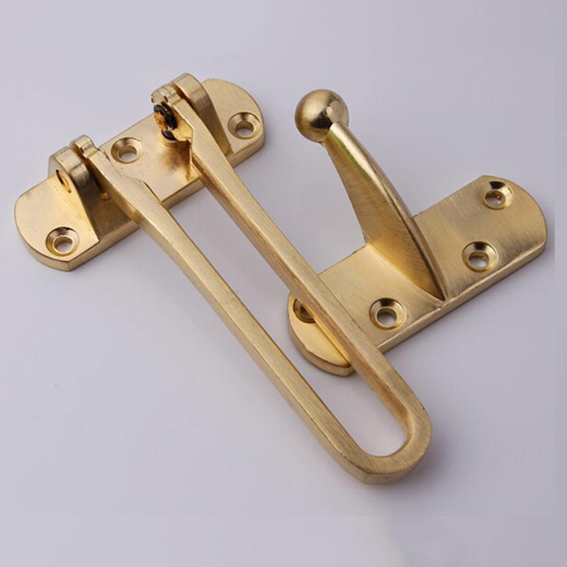 Door Chain Maze Polished Brass Keyed Chain Door Guard Chain Door