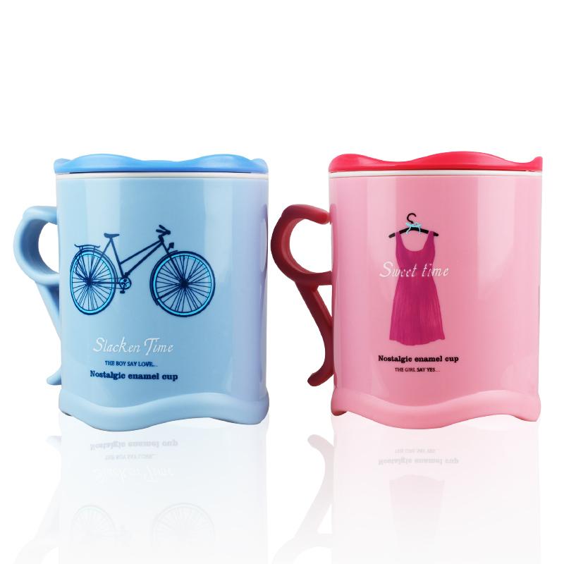 2pcs/lot High quality Cup mugs couple cups wedding birthday gift creative Milk Coffee tea cup cute cartoon(China (Mainland))