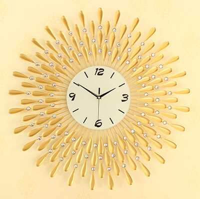 2016 New Creative Gold Electronic Technology Wall Clock European Style Fashion Craft Clock Mute Quartz Clock Watch(China (Mainland))