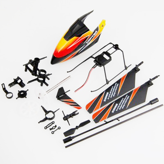 F05098 WL V911 Quick-wear Accessory Full Kit: Canopy propeller Connecting Parts Landing Skid