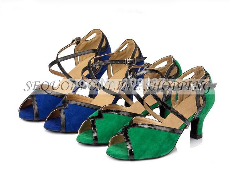 Gorgeous Women's Ladies Knot 2 Color Latin Tango Ballroom Salsa Heeled Dance Shoes 6-8cm MY5502E - Sequoia Trading Company (No. store)