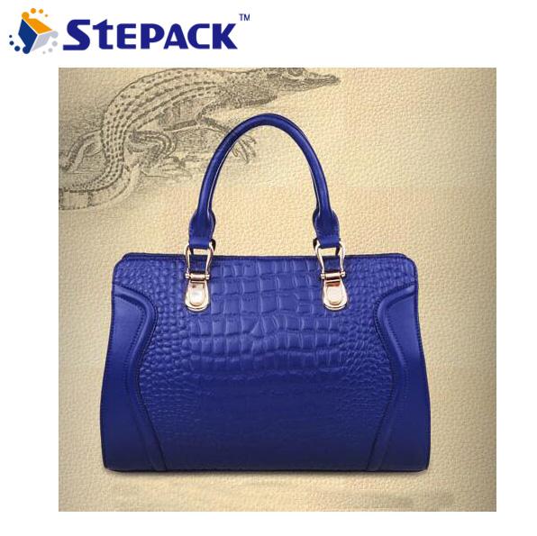 [6 colors] Genuine Leather New 2014 Women Messenger Bags Women Handbag Women Bag CROCO Pattern Fashion Style 1RL043(China (Mainland))