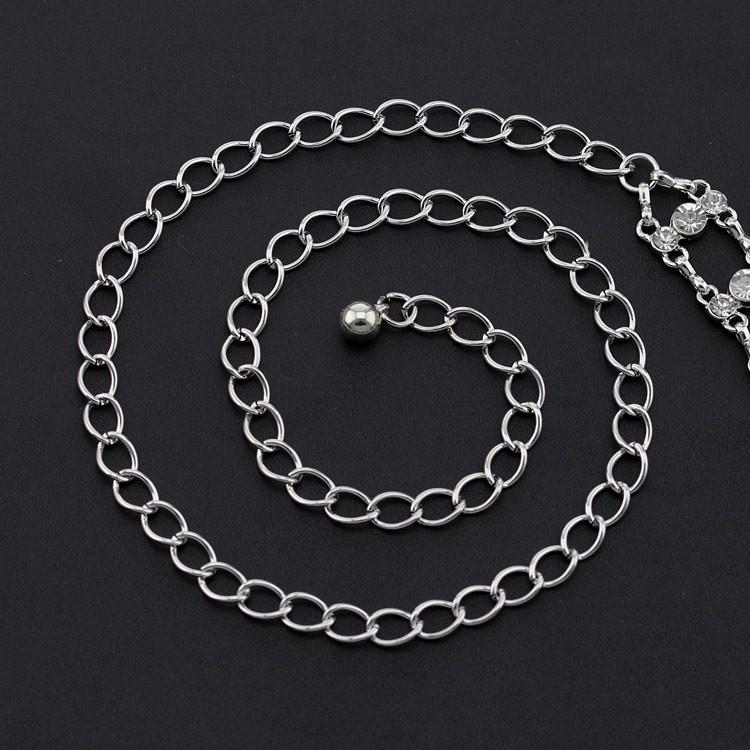 2016 waist chain belt women,diamond+silver metal designer Youkee womens belts - YouKee Jewelry store