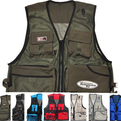 2015 photography vest fishing vest spring and summer male outdoor mesh vest pocket tooling waistcoat(China (Mainland))