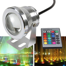 LED Underwater Lights RGB 10W DC12V 1000LM Swimming Pool Fountain Light With Remote Control Waterproof IP68(China (Mainland))