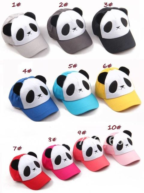 CHILDREN baseball cap, kids snapback hats,Panda hat,cap circumference about 51--56cm&can choose color,CPAM free shipping