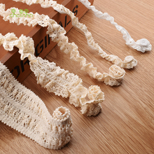 Buy Knitted Cotton Stretch Lace Ribbon Beige Color,5 Yard/Piece,DIY Handmade Accessories,Craft & Gift Packing/Child Dress/Decoration for $4.34 in AliExpress store