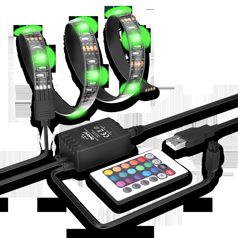 Drop Shipping+Waterproof+RGB+USB LED 5050 LED SMD LED Power DC 5V Light Ultra Bright Beads House Party Decor LED Flexible Strip(China (Mainland))