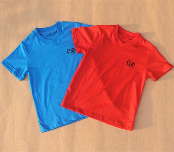 Brazil Hot ! Brand 2014 new boys clothes Summer Fashion roupa infantil Kids Short Sleeve V- Neck t shirt Cotton - Yongsheng Trading Co., LTD. store