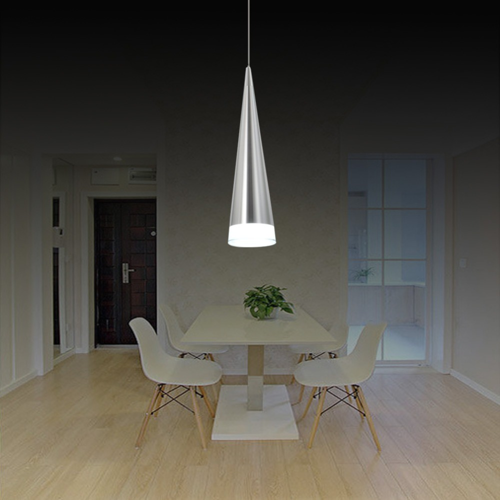 Cheap modern aluminum pendant lamp restaurant dining room for Miroir led ikea