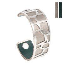 Yoiumit Argent bransoletka mankietowa bransoletki dla kobiet Cremo stal nierdzewna bracelets Manchette wymienna skórzana bransoletka(China)
