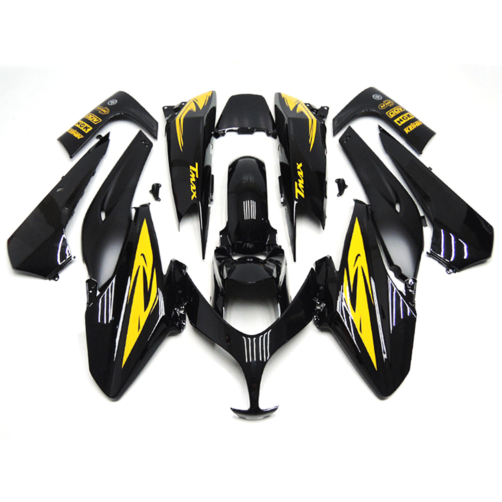 Injection Fairings For Yamaha XP 500 TMAX T-Max 08 09 10 11 ABS Plastic Motorcycle Fairing Kit Cowling Gloss Black Yellow Decals(China (Mainland))