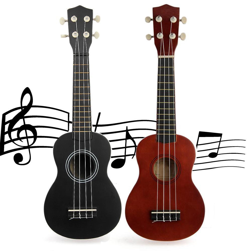 "21"" 4-Strings Ukulele Uke Acoustic Soprano Wooden Musical Instrument with Case Bag Nylon Strings Mini Guitar 2 Colors(China (Mainland))"