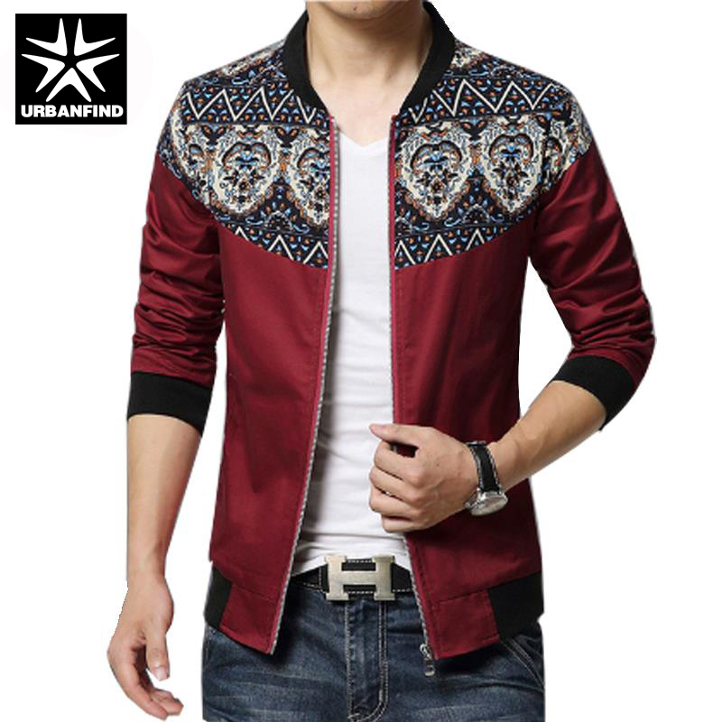 New Fashion Brand Jacket Men Trend Flower Sleeve Patchwork Korean Slim Fit Mens Designer Clothes