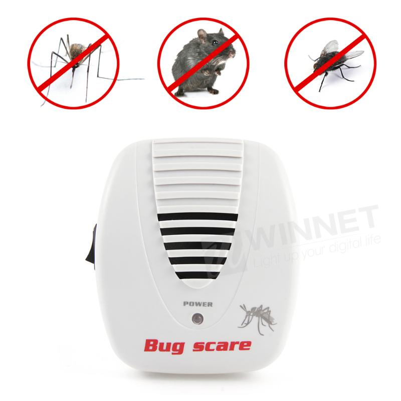 Mouse Pest Control Rat Pest Ultrasonic Electrical Repeller Smart Bug Scare Item EU/US Plug(China (Mainland))