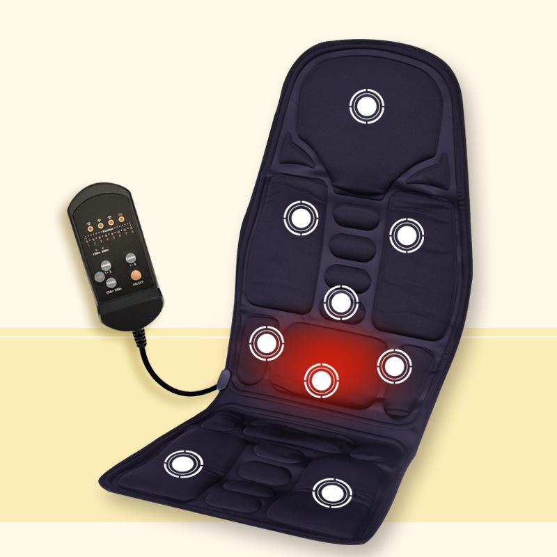 Car Home Office Full-Body Massage Cushion. Back Neck Massage Chair Massage Relaxation Car Seat. Heat Vibrate Mattress(China (Mainland))