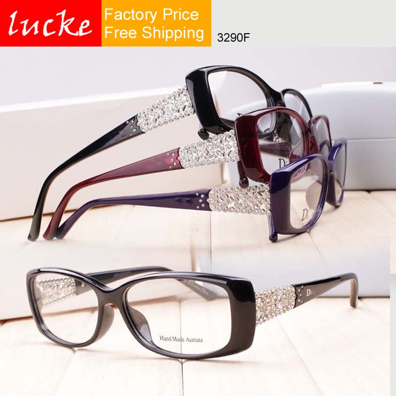 Ladies Eyeglass Frames Rhinestones : 2016 rhinestone glasses myopia eyeglasses frame womens ...