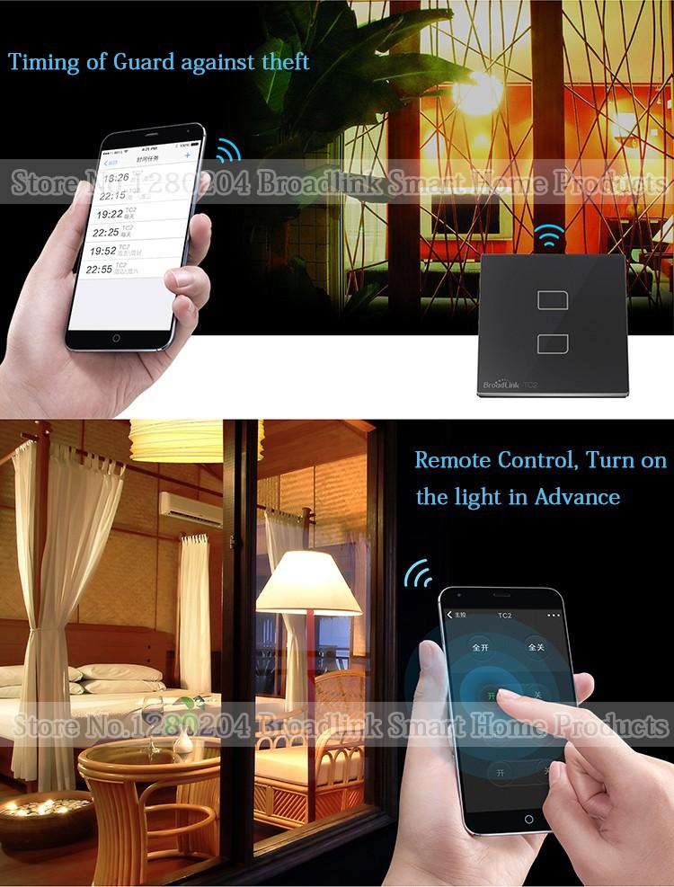 Broadlink Home Automation,TC2 EU Wifi Light Switch+A1 e-Air Quality Detector+SP3 EU Smart Socket,Remote Control For Smart Home