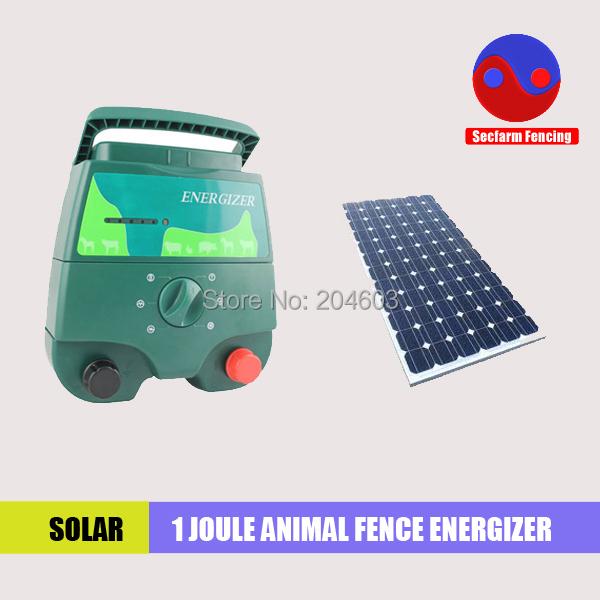 1 Joule 12KV élevage solaire clôture électrique energizer avec 30 w panneau solaire(China (Mainland))