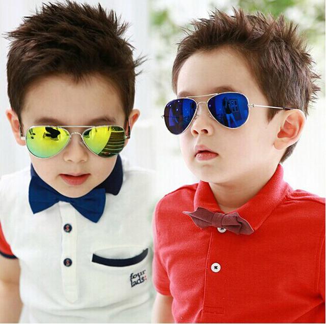 DRESSUUP Мода Мальчиков Детские Солнцезащитные Очки Piolt Стиль Марка Дизайн Дети Солнцезащитные Очки 100% УФ-Защита Óculos De Sol Gafas