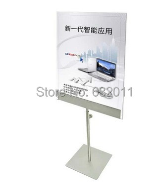 Stainless metal POP A3 A4 tabletop rack advertising poster banner label sign holder showing stand(China (Mainland))