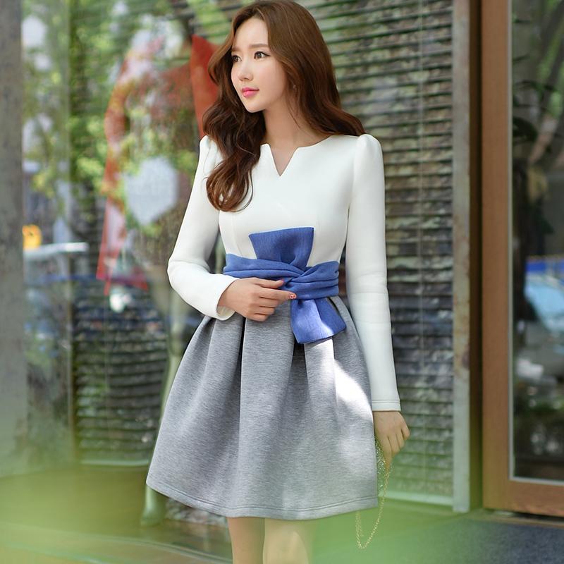 DABUWAWA 2016 Brand Vestidos Autumn and Winter Style Long Sleeve A-Line Slim Waist Kimono Elegant Office Dress Women Wholesale(China (Mainland))