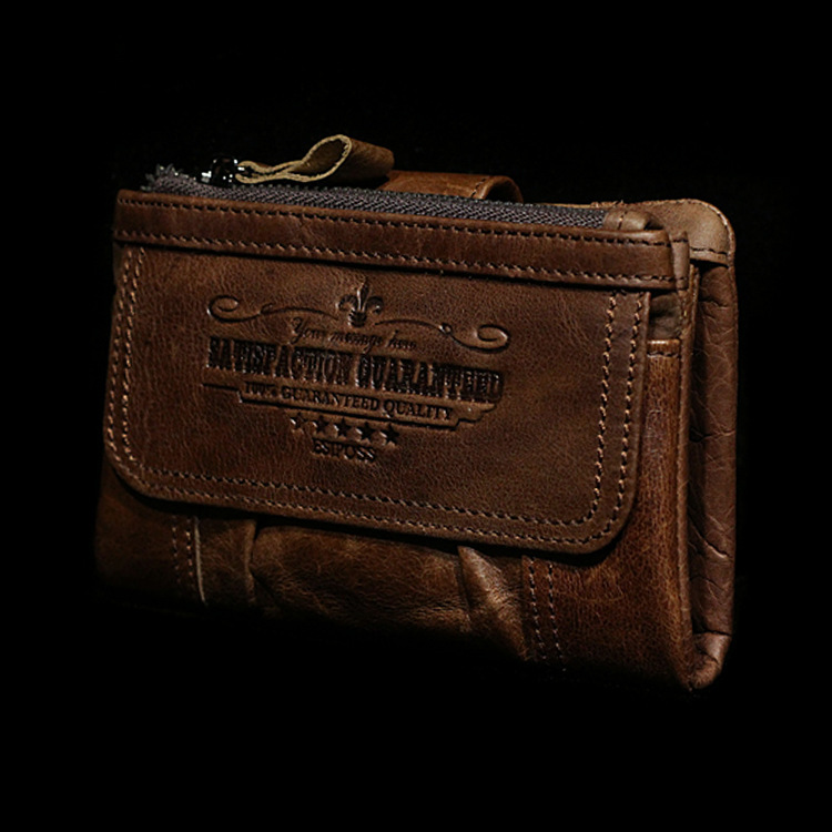 100 First Layer Genuine Leather Men Short Wallet Vintage Style Wallets For Men Portefeuilles High Quality