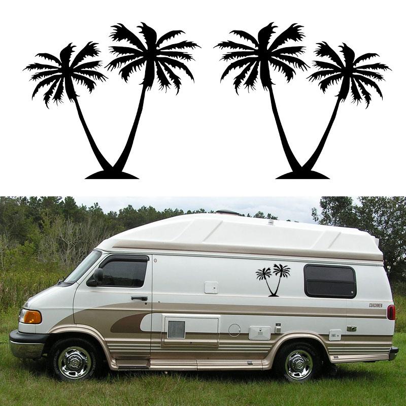 2x Palm Tree  one for each side  Graphic DIY Car Stickers Camper Van RV  Trailer Truck Motor Home Vinyl Graphics Kit Vinyl Decals. Popular Rv Truck Campers Buy Cheap Rv Truck Campers lots from