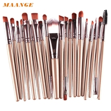 Buy 20 pcs Makeup brushes sets Pro hair eyebrow foundation brush pen cleaner Cosmetics make brush set Blusher cosmetics jan20 for $3.49 in AliExpress store