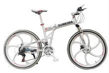 2x6/inch mountain bike/26 pollice 21 velocità mountain bike freni a disco anteriore e posteriore in alluminio telaio bici pieghevole velocità(China (Mainland))