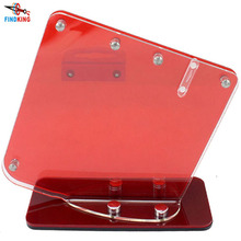 Transparent red acrylic ceramic knife block, kitchen knife holder stand for 3'' 4'' 5'' 6'' knives with one peeler(China (Mainland))