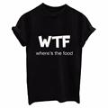 2017 Spring Summer casual T shirt Tee black White grey fashion WTF print Man women female