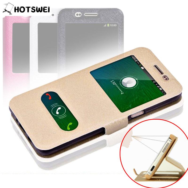 Samsung Galaxy J3, 6 2016 Case SAMSUNG J3 J320 J320F J3109 NEW Fashion Window View Stand Phone Cases Leather Flip Cover