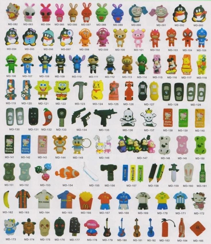 promotion new fashion 100pcs/lot gift items usb flash drive pen drive full capacity Mixed Order Accept can be mix any style(China (Mainland))