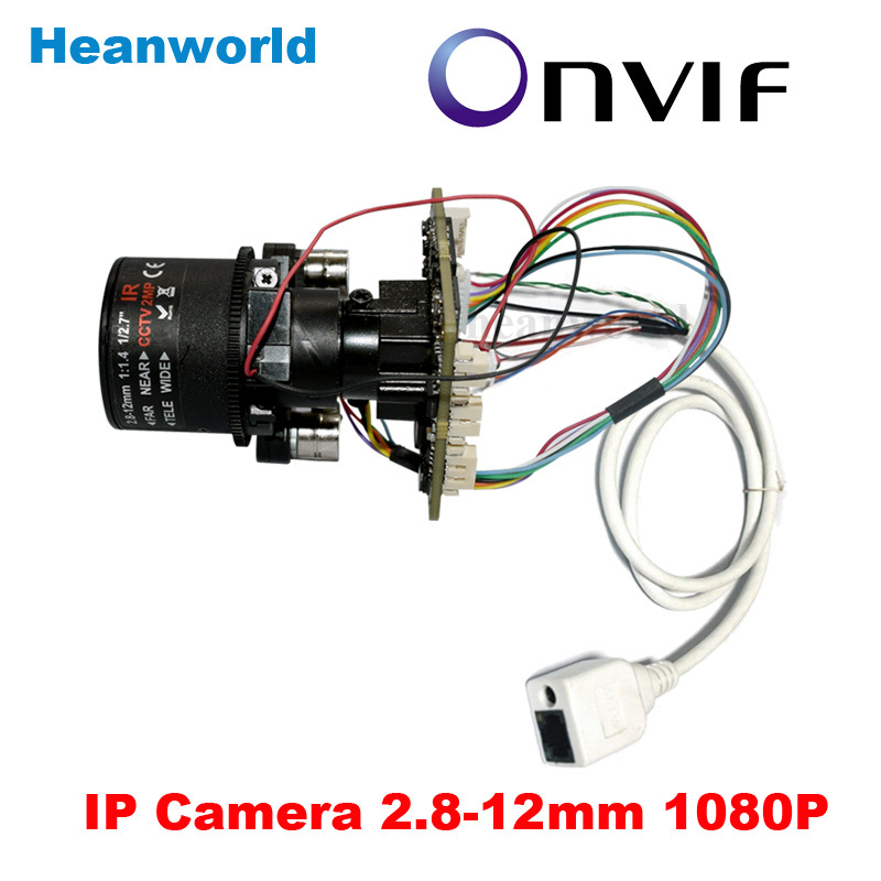 2.0MP 1080P IP Camera Main board module CCTV chipboard Network Camera with 2.8-12mm Auto iris lens and Lan cable ONVIF IP Board<br><br>Aliexpress