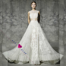 Buy Sleeveless line Lace Illusion Wedding Dresses Sexy New Style Real Photo Factory Custom Made Bridal Gown for $189.05 in AliExpress store