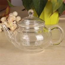 New Arrival 250ml Filter Transparent Glass Teapot Heat Resistant Flower Tea Set Coffee Teapot Convenient Kitchen