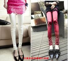 2015 New Candy colors glossy silk satin Women Leggings summer style Fashion sport legging Plus Size
