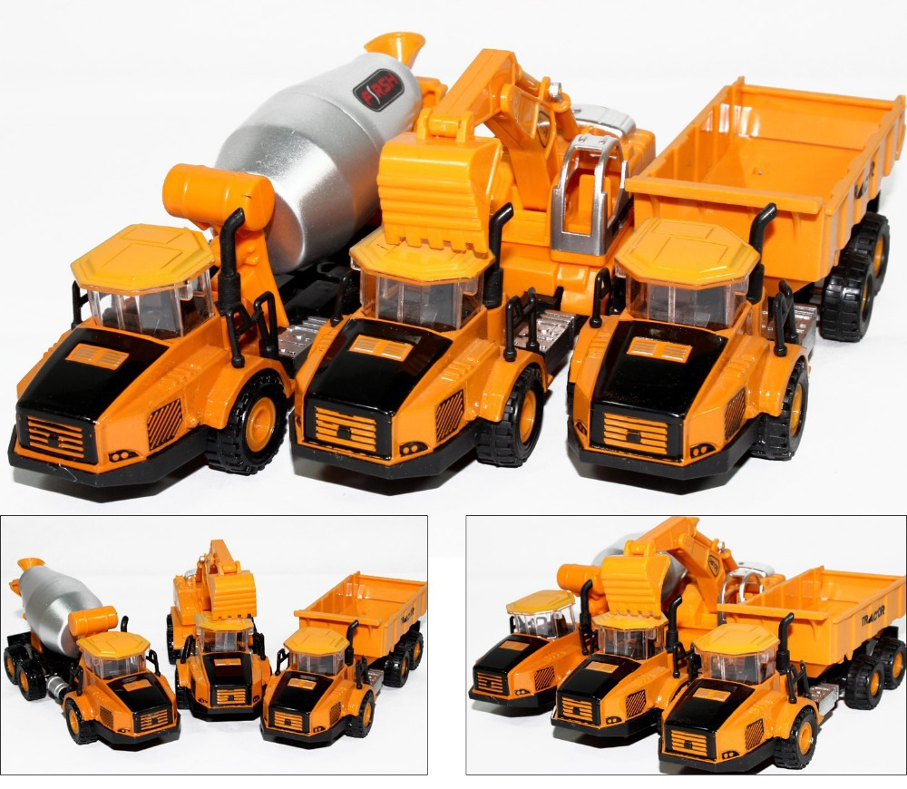 2015 Manufacturers specials Diecast cars, 1:87 alloy construction vehicles, trucks, mixer, excavators, lowest price(China (Mainland))