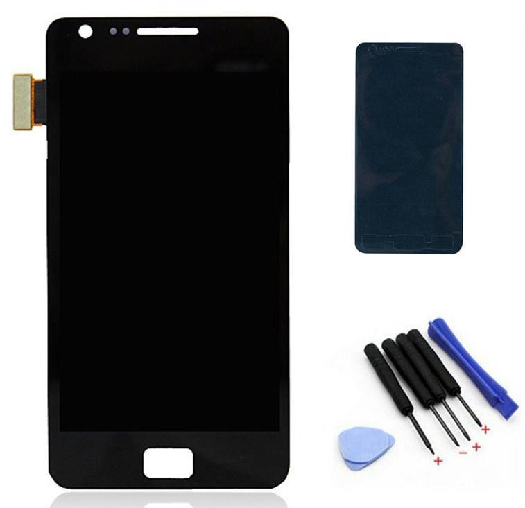 Original i9100 lcd For Samsung Galaxy S2 i9100 LCD Display+Touch Screen Digitizer Assembly +adhesive+tools,free shipping(China (Mainland))