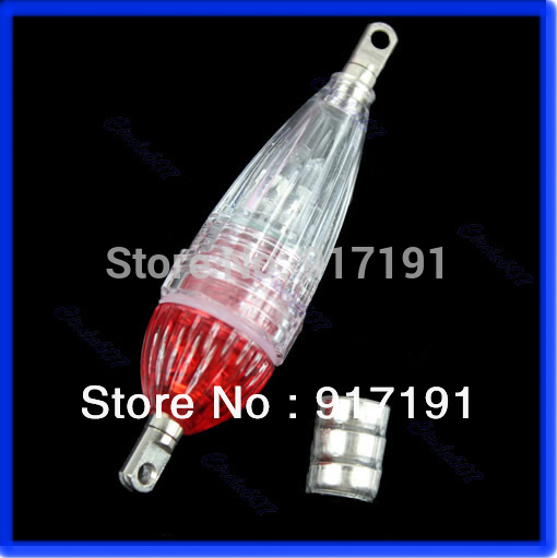 Free Shipping Mini LED Deep Drop Underwater Fishing Squid Fish Lure Light Red Flashing Lamp(China (Mainland))
