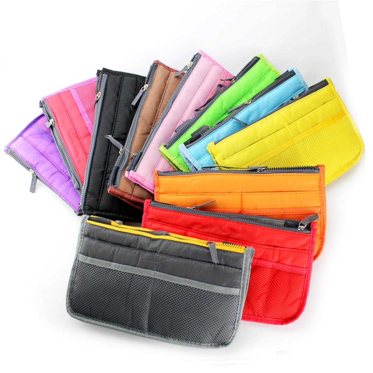 Candy Color New 2015 Lady's Makeup Handbags Cosmetic Bags Travel Bag Pockets Organizer Storage Clutch Bags Cases Lady Purse(China (Mainland))