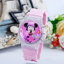 2015 new fashion boys girls silicone digital watch for kids mickey minnie cartoon watch for children